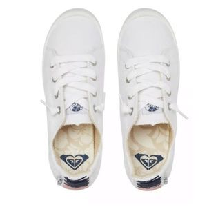 ROXY Bay Shore Slip On White Sneakers NIB
